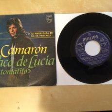 """Discos de vinilo: CAMARON - TU AMOR PARA MI NO ES FANTASIA - SINGLE 7"""" - 1981. Lote 262142460"""