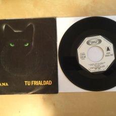 """Discos de vinilo: TRIANA - TU FRIALDAD - PROMO SINGLE 7"""" - 1980. Lote 262143805"""