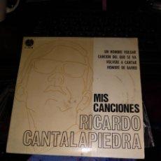Discos de vinilo: RICARDO CANTALAPIEDRA. MIS CANCIONES. Lote 262147230