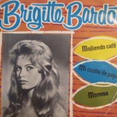 Discos de vinilo: DIGNO GARCIA Y SIS CARIOS.** BRIGITTE BARDOT * MOLIENDO CAFÉ * MI CASITA DE PAPEL * MORENA**. Lote 262171675
