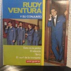 Discos de vinilo: RUDY VENTURA Y SU CONJUNTO.** ESTO ES EL YENKA* EL SILENCIO*TERRY* EL SURF DE LA TROMPETA**. Lote 262180550