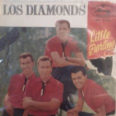 Discos de vinilo: LOS DIAMONDS.** LITTLE DARLING * FAITHFUL AND..* KA DING DONG * SOFT SUMMER BREEZE**. Lote 262181985