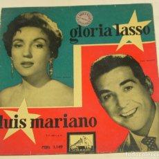 Discos de vinilo: GLORIA LASSO Y LUIS MARIANO ··· CANASTOS / ASÍ, ASÍ / AMOR NO ME QUIERAS TANTO / CHIQUILLO (EP 45 R). Lote 262185850