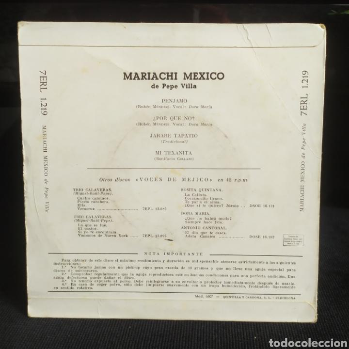 Discos de vinilo: Pepe Villa - Mariachi Mexico 1958 - Foto 2 - 262194770