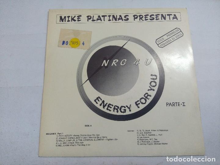 NRG 4 U/ENERGY FOR YOU/SINGLE PROMOCIONAL. (Música - Discos - Singles Vinilo - Techno, Trance y House)