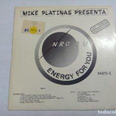 Discos de vinilo: NRG 4 U/ENERGY FOR YOU/SINGLE PROMOCIONAL.. Lote 262202540