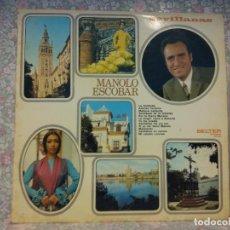 Discos de vinilo: MANOLO ESCOBAR. SEVILLANAS.. Lote 262205335