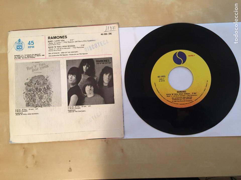 """Discos de vinilo: Ramones - Baby I Love You - SINGLE 7"""" - 1980 SPAIN - Foto 3 - 262208150"""