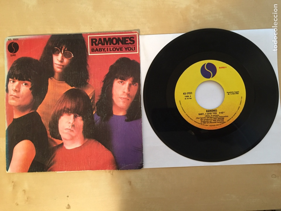 "RAMONES - BABY I LOVE YOU - SINGLE 7"" - 1980 SPAIN (Música - Discos - Singles Vinilo - Punk - Hard Core)"
