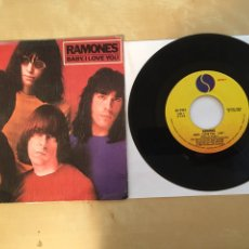 "Discos de vinilo: RAMONES - BABY I LOVE YOU - SINGLE 7"" - 1980 SPAIN. Lote 262208150"