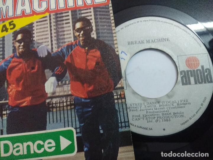 Discos de vinilo: BREAK MACHINE/STREET DANCIN/SINGLE. - Foto 2 - 262208895