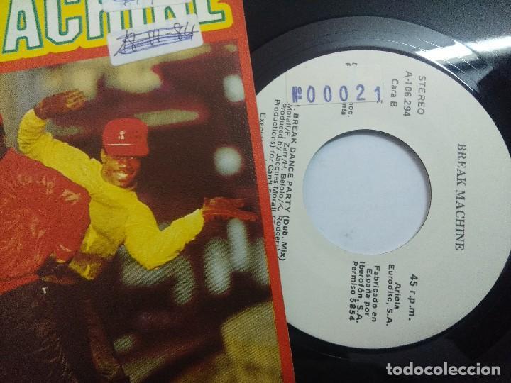 Discos de vinilo: BREAK MACHINE/BREAK DANCE PARTY/SINGLE. - Foto 2 - 262209125