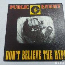 Discos de vinilo: PUBLIC ENEMY/DON'T BELIEVE THE HYPE/SINGLE.. Lote 262209825