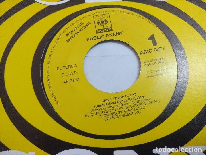 Discos de vinilo: PUBLIC ENEMY/CANT TRUSS IT/SINGLE PROMOCIONAL. - Foto 2 - 262210155