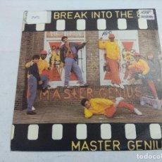 Discos de vinilo: MASTER GENIUS/LET'S BREAK INTO THE 80'S/SINGLE.. Lote 262210565