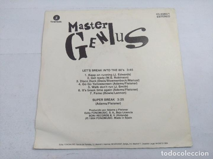 Discos de vinilo: MASTER GENIUS/LETS BREAK INTO THE 80s/SINGLE. - Foto 3 - 262210565