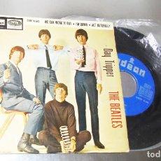 Discos de vinilo: THE BEATLES -DAY TRIPPER ---- 1ª EDICION ESPAÑA 1966 - ---- LABEL AZUL FUERTE --VG +. Lote 169671460