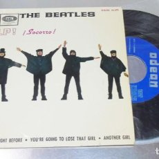Discos de vinilo: THE BEATLES ----HELP &--THE NIGHT BEFORE & ANOTHER GIRL + 1 LABEL AZUL FUERTE --VERY GOOD PLUS VG +. Lote 215033793