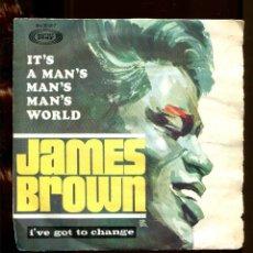 Discos de vinilo: JAMES BROWN IT'S A MAN'S MAN'S WORLD. SONOPLAY 1967. EP. Lote 262214150