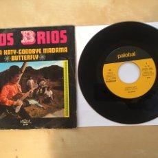 """Discos de vinilo: LOS BRIOS - PICCOLA KATY / GOODBY MADAMA / BUTTERFLY - SINGLE PROMO 7"""" - 1970. Lote 262214785"""