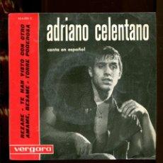 Discos de vinilo: ADRIANO CELENTANO. EN ESPAÑOL. REZARÉ. ETC. VERGARA 1963. EP.. Lote 262215905