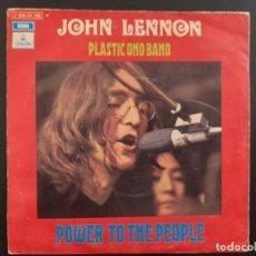 Discos de vinilo: SINGLE POWER TO THE PEOPLE JOHN LENNON BEATLES EMI ESPAÑA . 1971. Lote 262218470