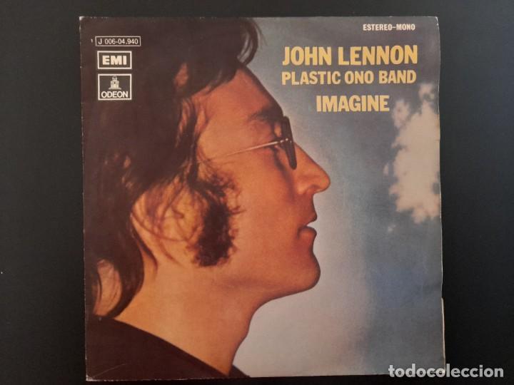 SINGLE IMAGINE JOHN LENNON BEATLES EMI ESPAÑA . 1971 BUEN ESTADO (Música - Discos - Singles Vinilo - Pop - Rock - Internacional de los 70)