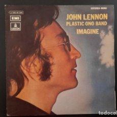 Discos de vinilo: SINGLE IMAGINE JOHN LENNON BEATLES EMI ESPAÑA . 1971 BUEN ESTADO. Lote 262218775