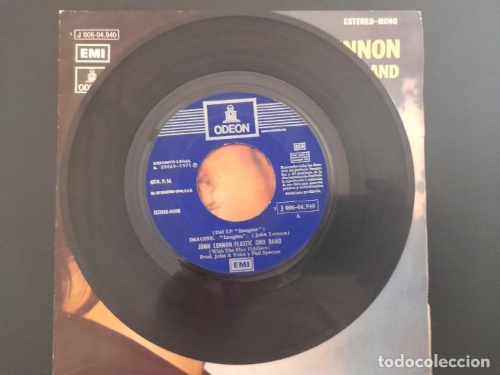 Discos de vinilo: SINGLE IMAGINE JOHN LENNON BEATLES EMI ESPAÑA . 1971 BUEN ESTADO - Foto 3 - 262218775