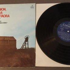 Discos de vinilo: LA UNION, MINERA Y CANTAORA LP 12 TEMAS. Lote 262220315