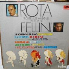 Discos de vinilo: TOUTES LES MUSIQUES DE FILM FEDERICO FELLINI - NINO ROTA - LP. SELLO POLYDOR 1974. Lote 262220785