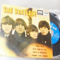 Discos de vinilo: THE BEATLES ----I FEEL FINE -- 1ª EDICION ORIGINAL 1964 ---LABEL AZUL FUERTE -- VERY GOOD PL ( VG+ ). Lote 167546192