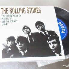 Discos de vinilo: THE ROLLING STONES -- YOU BETTER MOVE ON & POISON IVY & BYE BYE JOHNNY & MONEY ( MINT M ). Lote 234004810