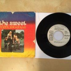 """Discos de vinilo: THE SWEET - POPPA JOE / JEANIE - PROMO SINGLE 7"""" - 1972. Lote 262231310"""