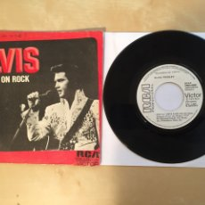 "Discos de vinilo: ELVIS - RAISED ON ROCK - PROMO SINGLE 7"" - 1973. Lote 262233480"