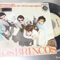 Discos de vinilo: LOS BRINCOS UN SORBITO DE CHAMPAGNE & RENACERA & GUELIETA & TU EN MI ---VG +. Lote 237940160