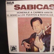Discos de vinilo: SABICAS- HOMENAJE A CARMEN AMAYA. EP.. Lote 262236895