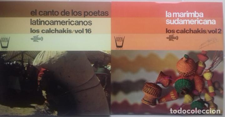 LOS CALCHAKIS X 2 LP: EL CANTO DE LOS POETAS LATINOAMERICANOS + LA MARIMBA SUDAMERICANA (Música - Discos de Vinilo - Maxi Singles - Étnicas y Músicas del Mundo)