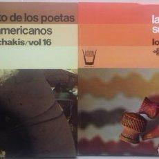 Discos de vinilo: LOS CALCHAKIS X 2 LP: EL CANTO DE LOS POETAS LATINOAMERICANOS + LA MARIMBA SUDAMERICANA. Lote 87646780