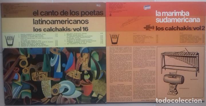 Discos de vinilo: LOS CALCHAKIS x 2 LP: EL CANTO DE LOS POETAS LATINOAMERICANOS + LA MARIMBA SUDAMERICANA - Foto 6 - 87646780