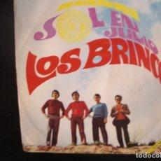 Discos de vinilo: LOS BRINCOS- SOL EN JULIO. SINGLE.. Lote 262242885