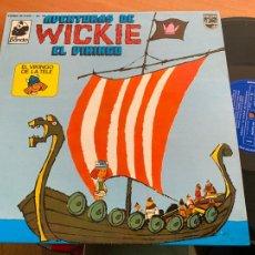 Discos de vinilo: AVENTURAS DE VICKIE EL VIKINGO LP ESPAÑA 1975 (B-28). Lote 262247680