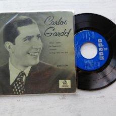 Discos de vinilo: CARLOS GARDEL – MANO A MANO + 3 EP SPAIN 1958 VINILO VG+/PORTADA VG++. Lote 262250695