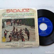 Discos de vinilo: GRUPO DE DANZAS DE BADAJOZ DE LA SECCIÓN FEMENINA DE F.E.T. Y DE LAS J.O.N.S. EP 1963. Lote 262254675