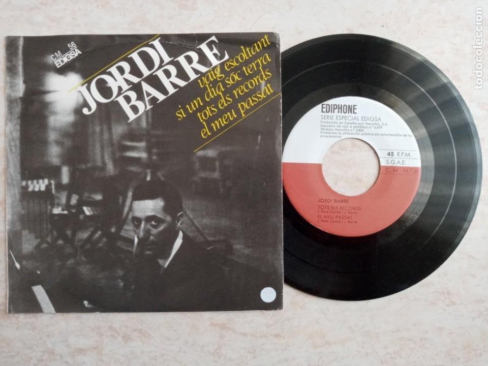 JORDI BARRE .DISCO 45 RPM.AÑO 1964.VAIG ESCOLTANT.SI UN DIA SOC TERRA.TOTS ELS RECORDS I EL MEU PASS (Música - Discos de Vinilo - EPs - Cantautores Internacionales)