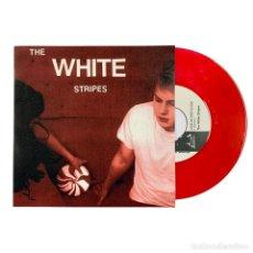 """Discos de vinilo: WHITE STRIPES 7"""" LET'S SHAKE HANDS SINGLE VINILO COLOR ROJO MUY RARO COLECCIONISTA. Lote 262268235"""