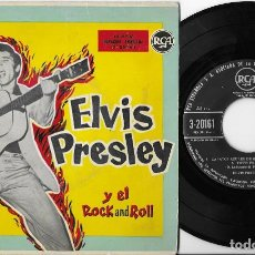 Discos de vinilo: ELVIS PRESLEY EP ROCK AND ROLL ORIGINAL 3-20161 EXCELENTE. Lote 262274475
