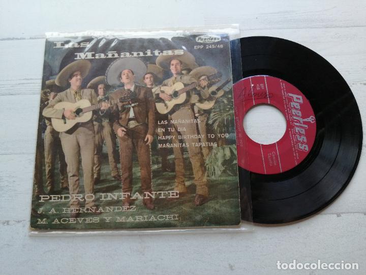 PEDRO INFANTE – LAS MAÑANITAS EP MEXICO VINILO VG/PORTADA VG++ (Música - Discos de Vinilo - EPs - Grupos y Solistas de latinoamérica)