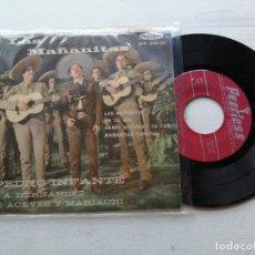 Discos de vinilo: PEDRO INFANTE – LAS MAÑANITAS EP MEXICO VINILO VG/PORTADA VG++. Lote 262281950