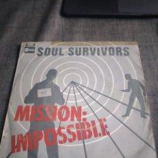 Discos de vinilo: SINGEL SOUL SURVIVORS MISSION IMPOSSIBLE. Lote 262285040